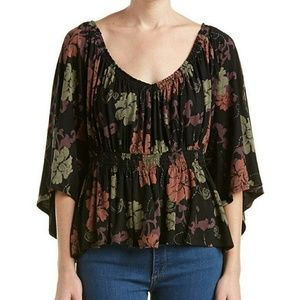 Free People Glenside Top Open Back t Strap Bell